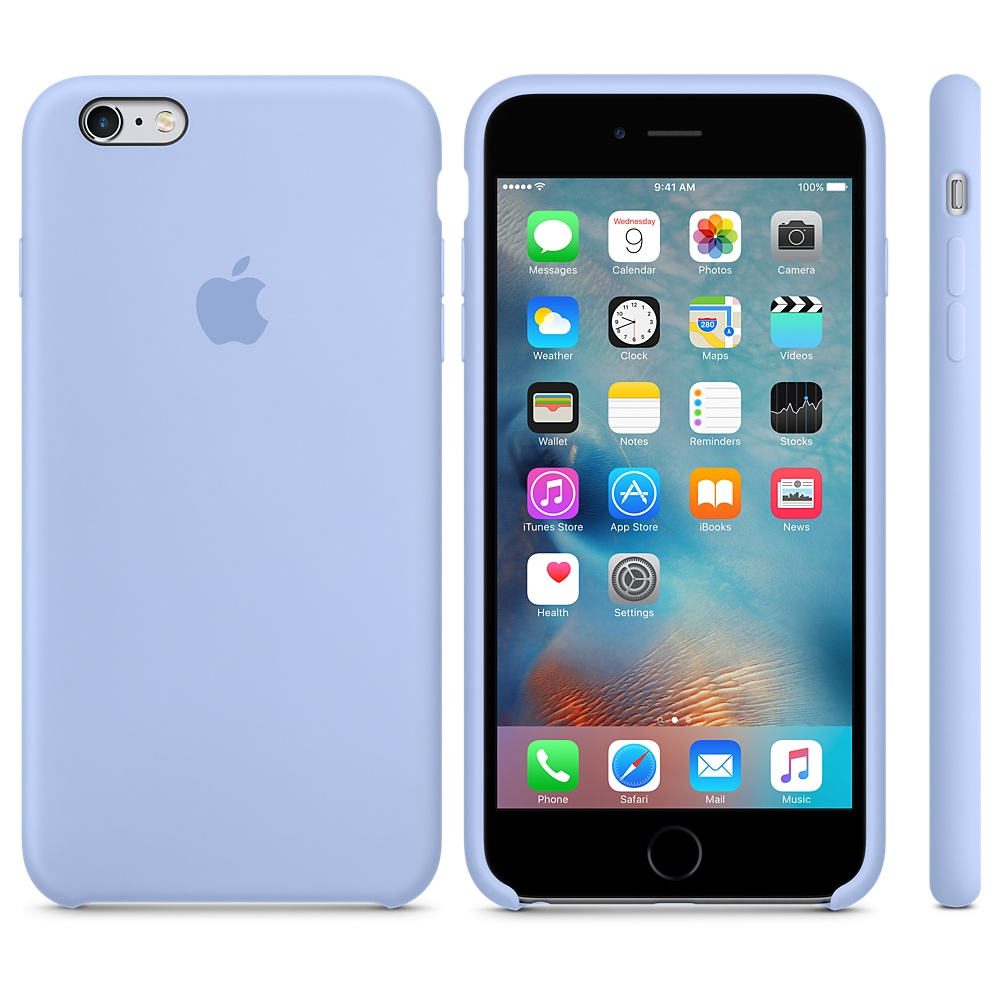 Чехол Silicone Case для iPhone 6 Plus/6s Plus Lilac OEM