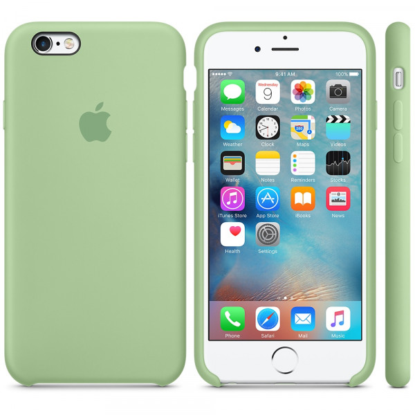 Силиконовый чехол Apple Silicone Case Mint для iPhone 6 Plus/6s Plus