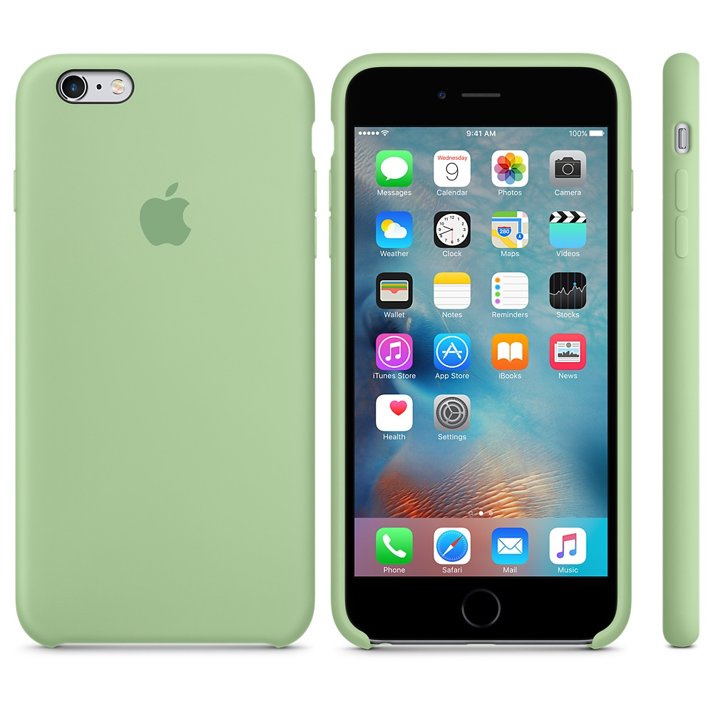 Чехол Silicone Case для iPhone 6 Plus/6s Plus Mint OEM