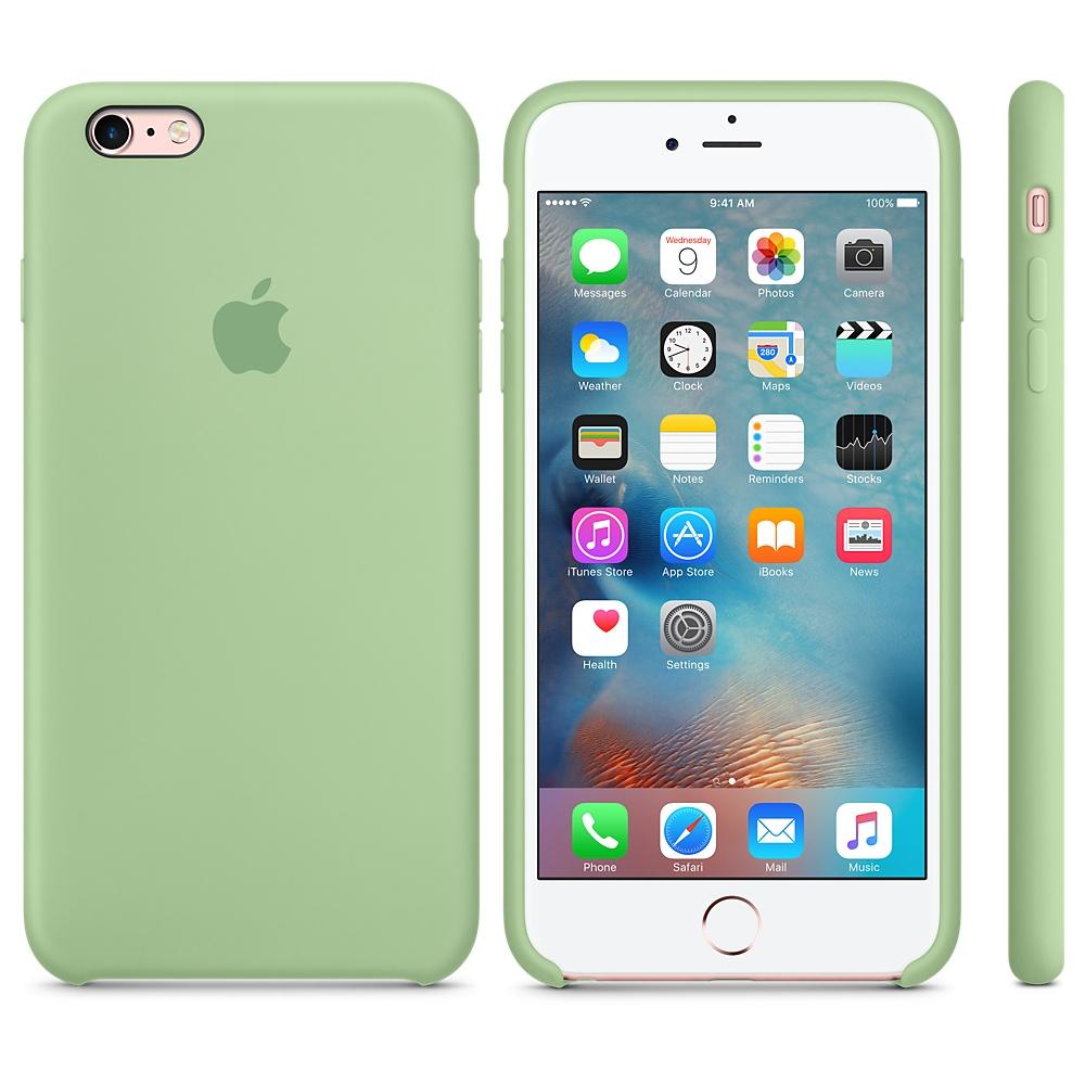 Чехол Silicone Case для iPhone 6 Plus/6s Plus Mint OEM