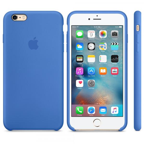 Силиконовый чехол Apple Silicone Case Royal Blue (MM6E2) для iPhone 6 Plus/6s Plus