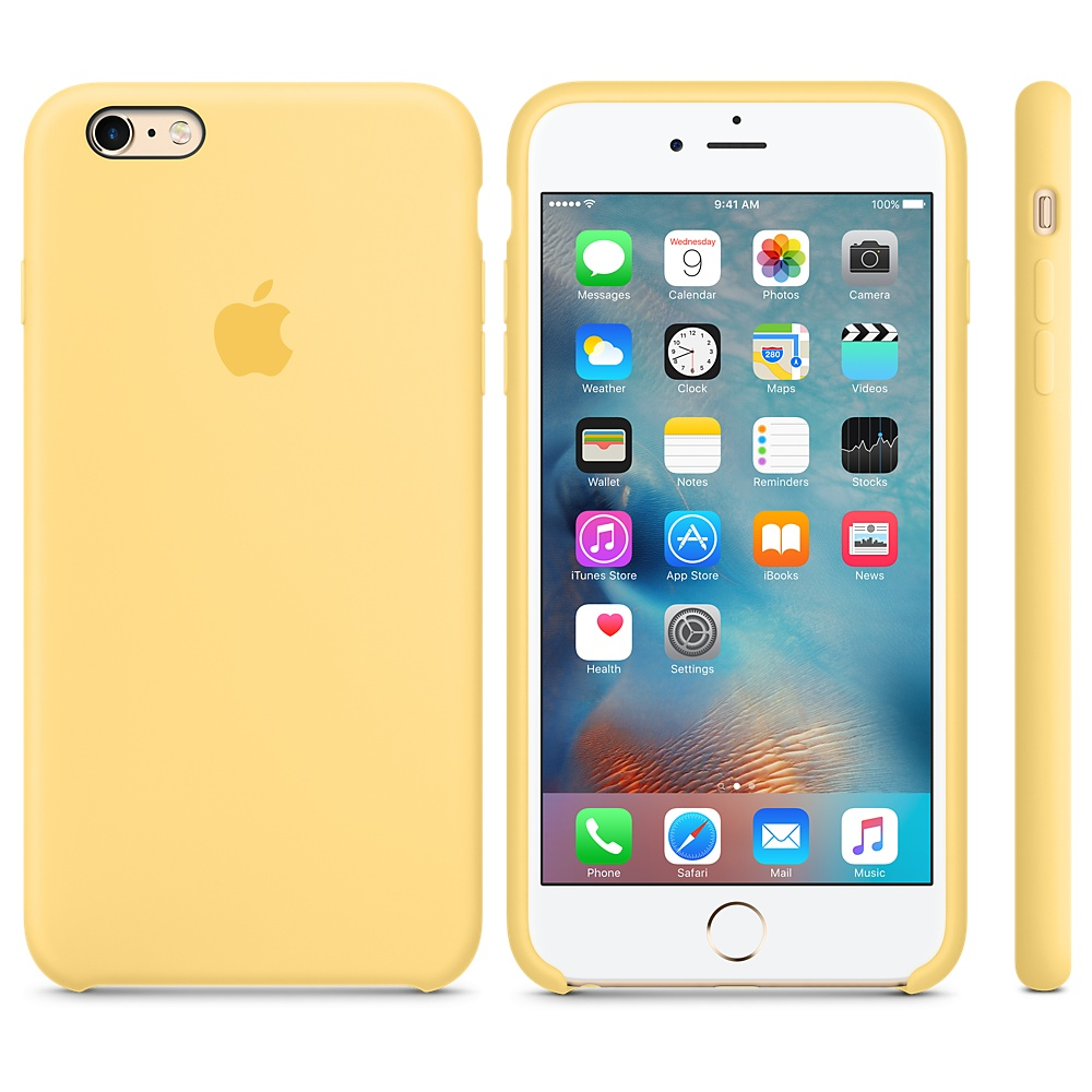 Чехол Silicone Case для iPhone 6 Plus/6s Plus Yellow OEM