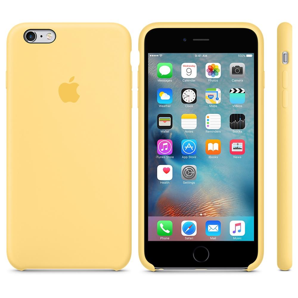 Силиконовый чехол Apple Silicone Case Yellow (MM6H2) для iPhone 6 Plus/6s Plus