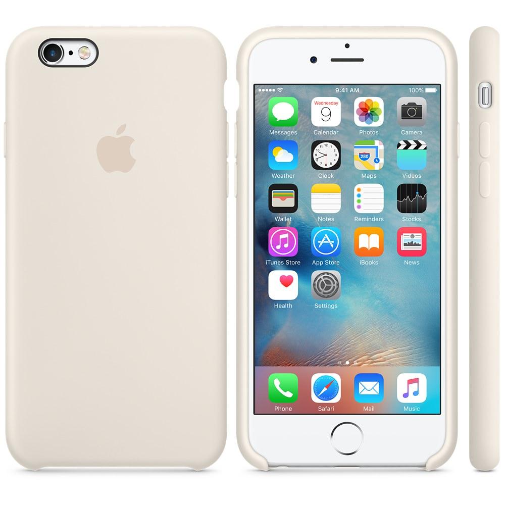 Силиконовый чехол Apple Silicone Case Antique White (MLD22) для iPhone 6 Plus/6s Plus