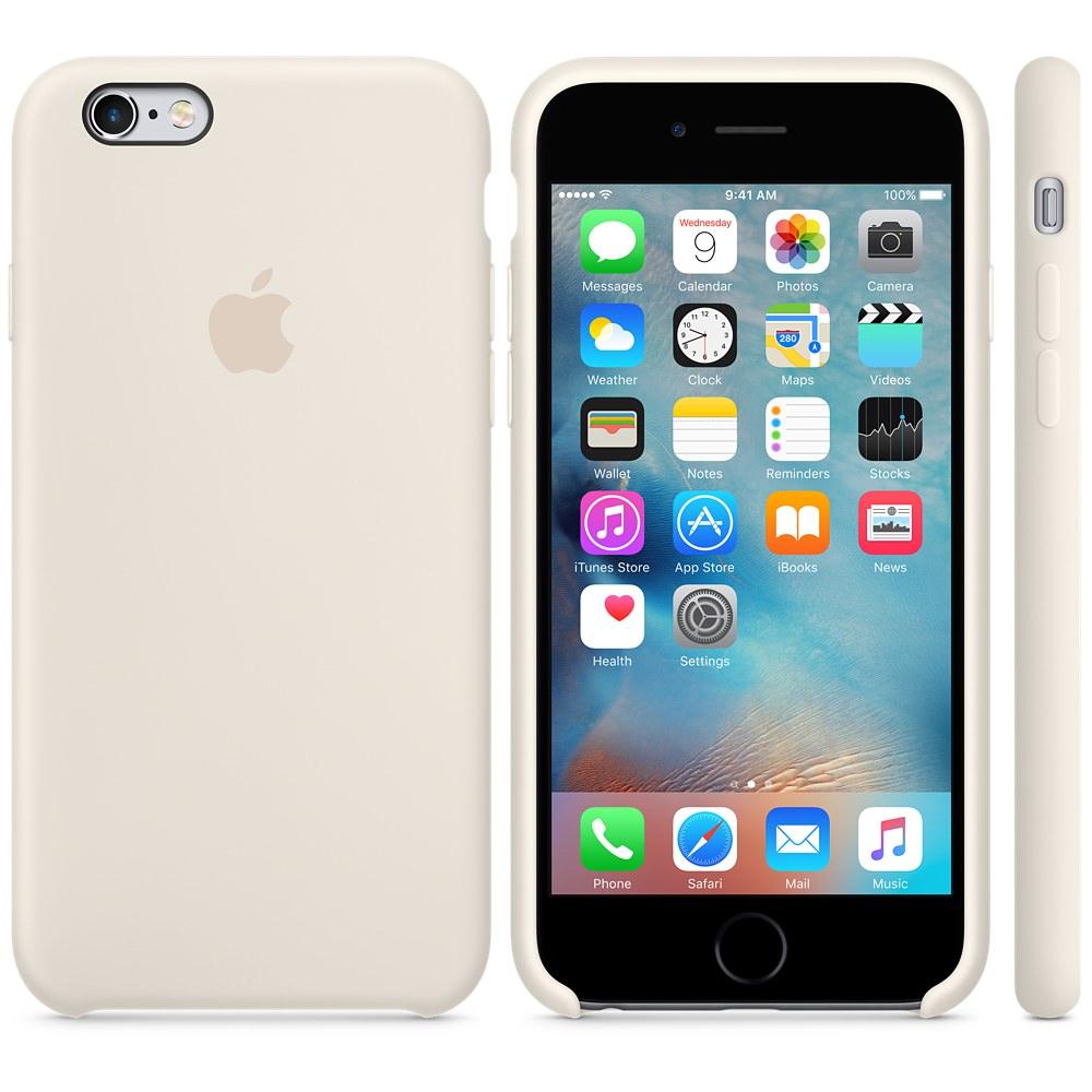 Чехол Silicone Case для iPhone 6 Plus/6s Plus Antique White OEM