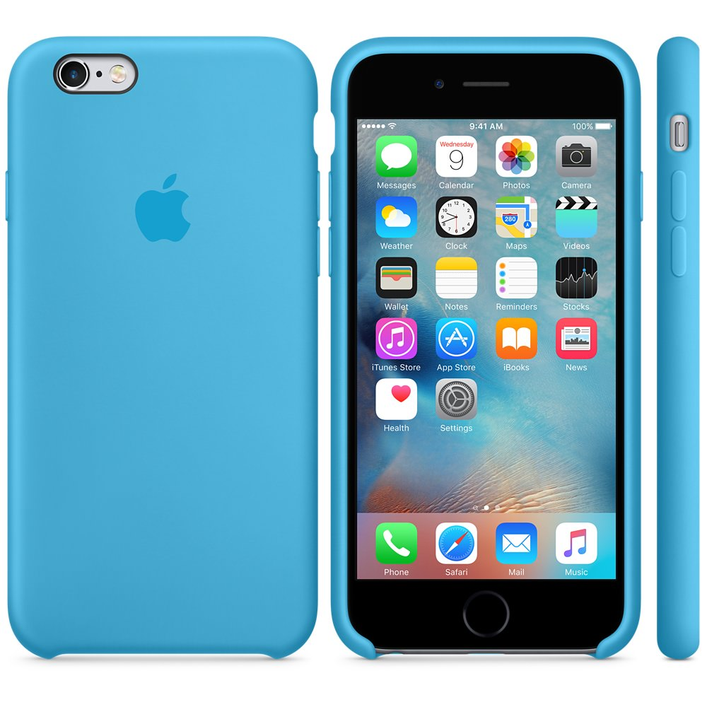 Чехол Silicone Case для iPhone 6 Plus/6s Plus Blue OEM