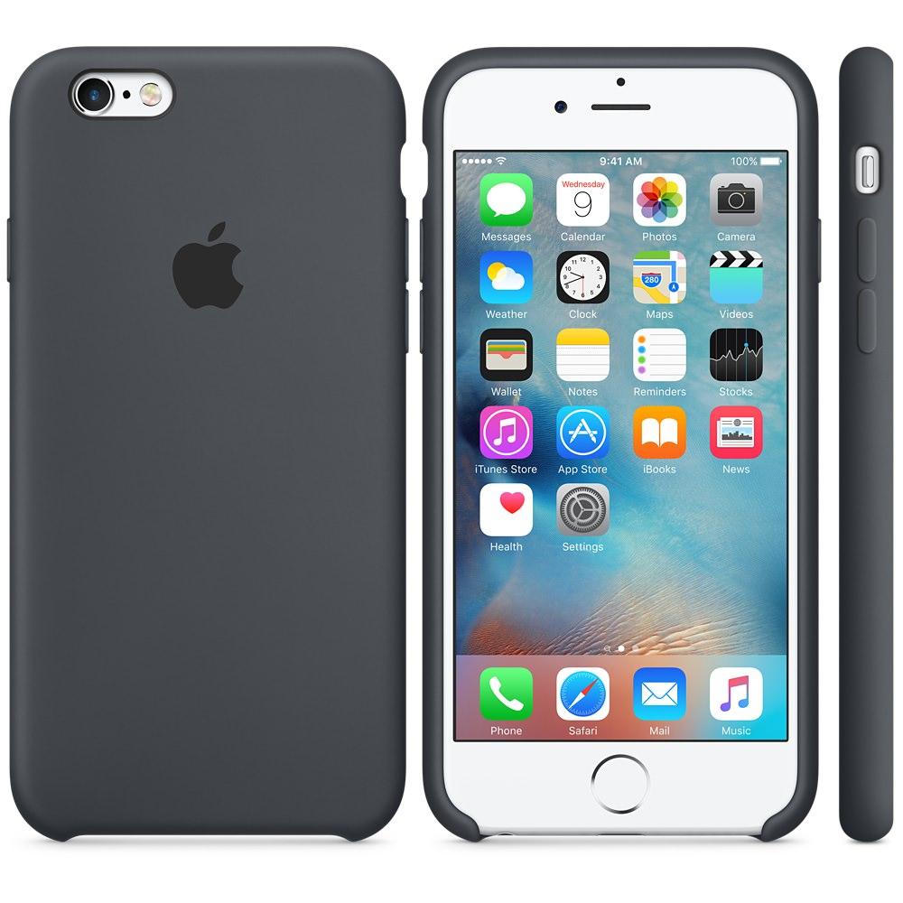 Чехол Silicone Case для iPhone 6 Plus/6s Plus Charcoal Gray OEM