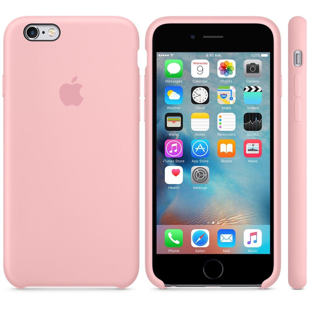 Силиконовый чехол Apple Silicone Case Pink (MLCY2) для iPhone 6 Plus/6s Plus