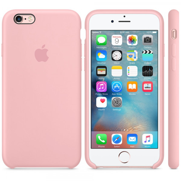 Силиконовый чехол Apple Silicone Case Pink (MLCY2) для iPhone 6 Plus/6s Plus