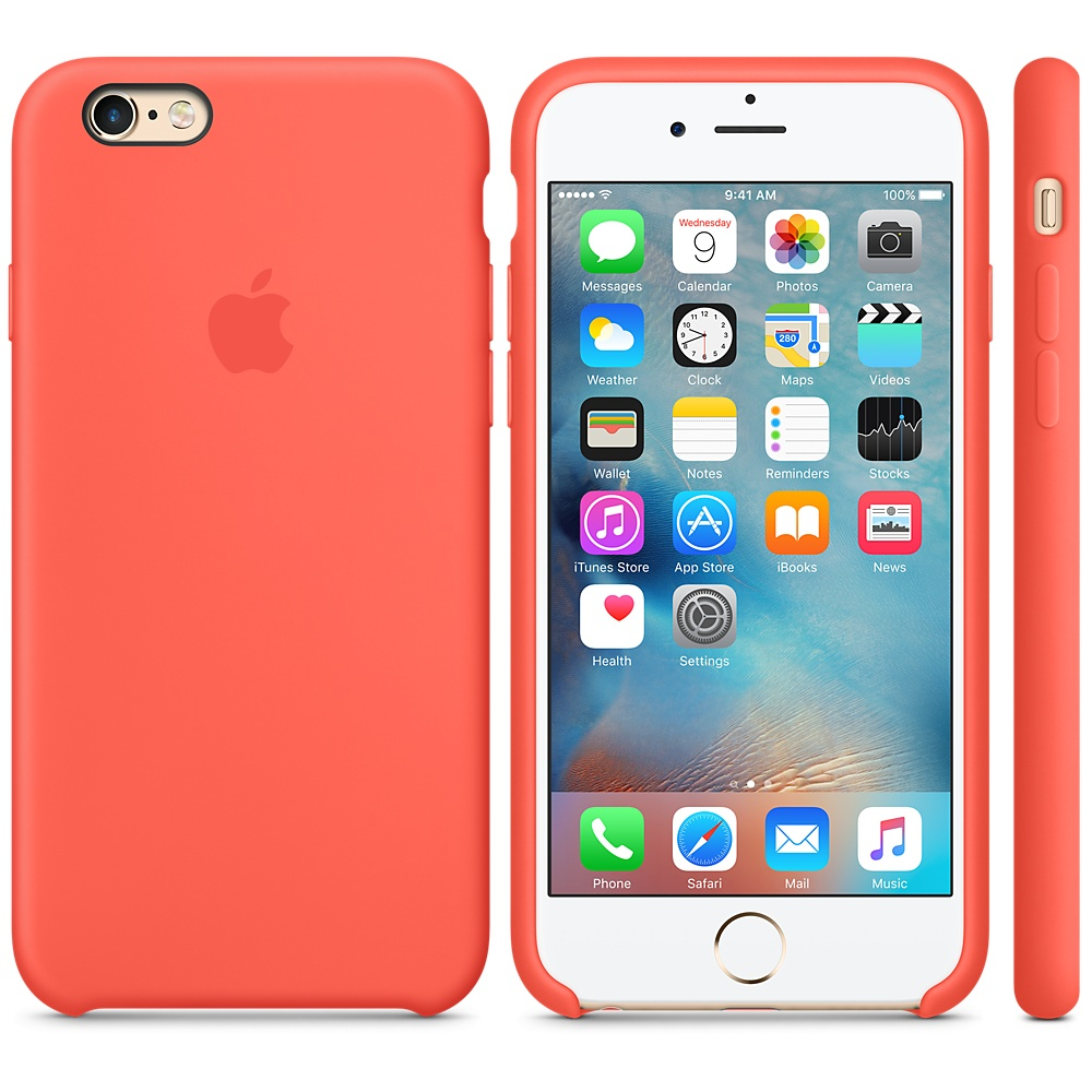Чехол Silicone Case для iPhone 6/6s Apricot OEM