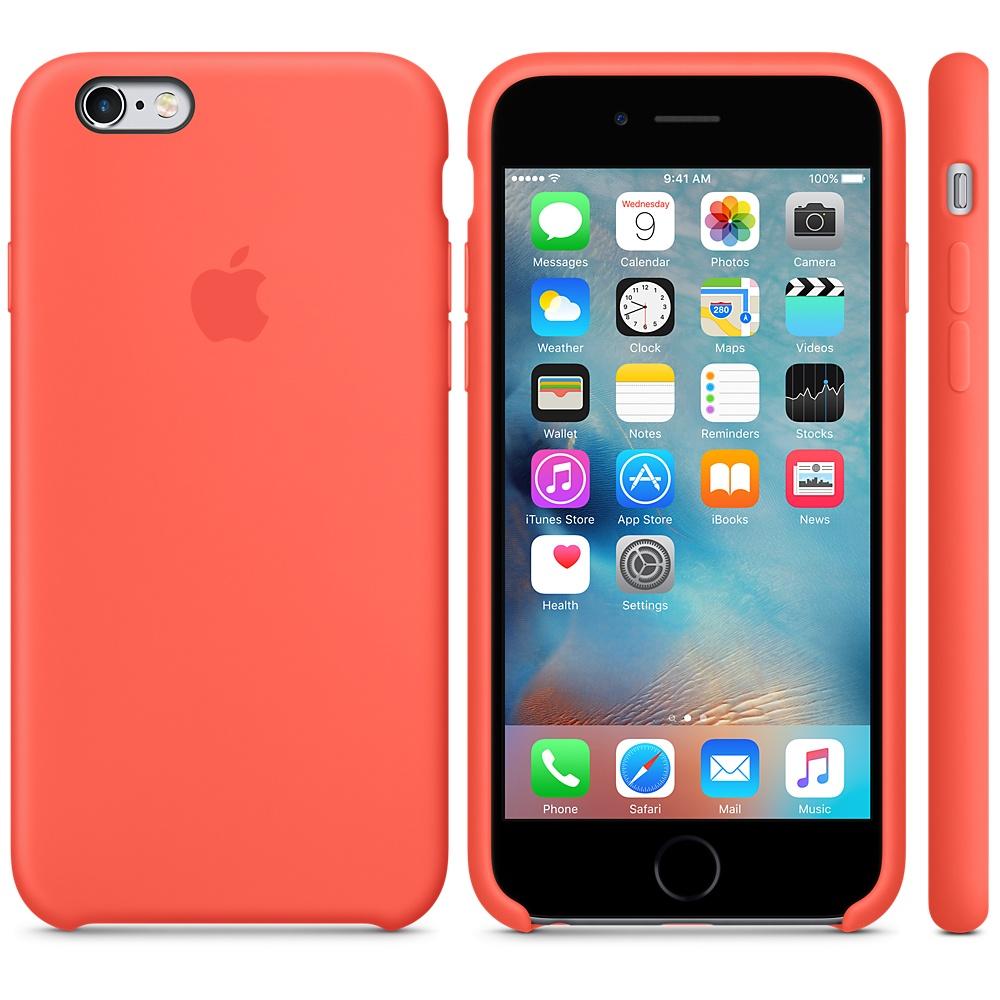 Силиконовый чехол Apple Silicone Case Apricot (MM642) для iPhone 6/6s