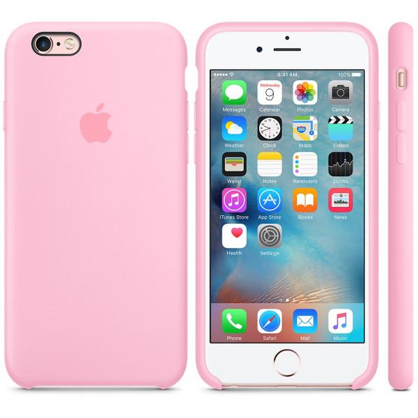 Силиконовый чехол Apple Silicone Case Light Pink (MM622) для iPhone 6/6s