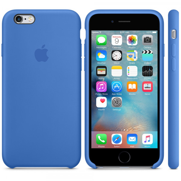 Силиконовый чехол Apple Silicone Case Royal Blue (MM632) для iPhone 6/6s