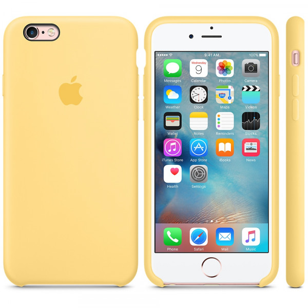 Силиконовый чехол Apple Silicone Case Yellow (MM662) для iPhone 6/6s