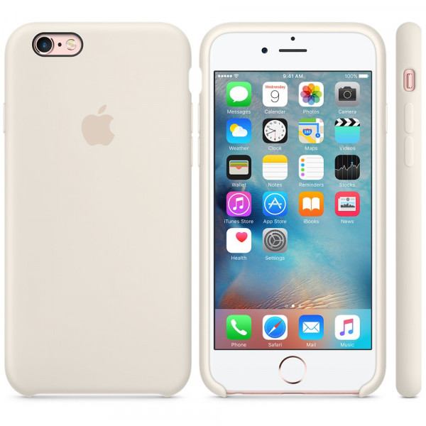 Силиконовый чехол Apple Silicone Case Antique White (MLCX2) для iPhone 6/6s