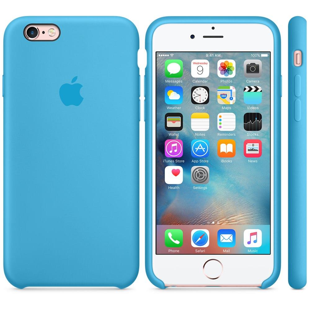 Чехол Silicone Case для iPhone 6/6s (Blue) OEM