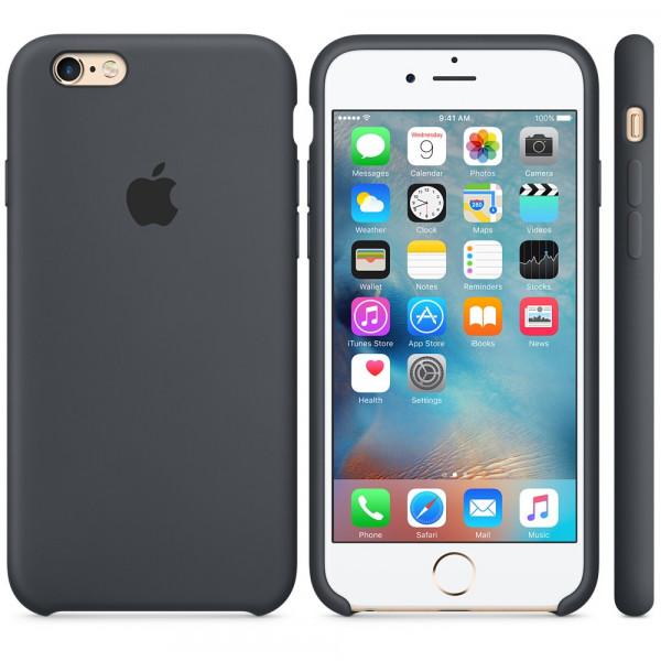 Силиконовый чехол Apple Silicone Case Charcoal Gray (MKY02) для iPhone 6/6s