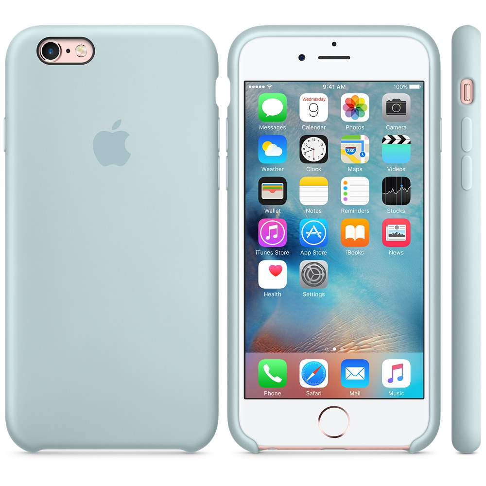 Силиконовый чехол Apple Silicone Case Turquoise (MLCW2) для iPhone 6/6s