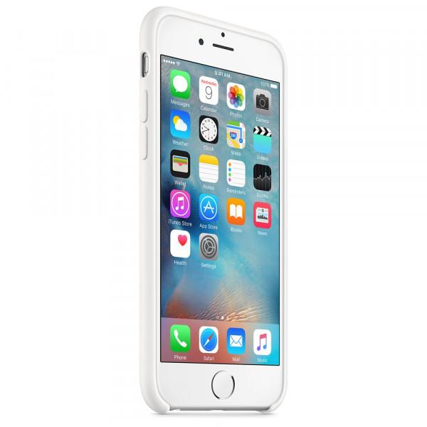 Силиконовый чехол Apple Silicone Case White (MKY12) для iPhone 6/6s