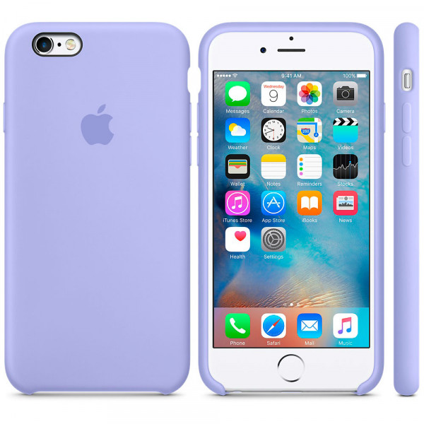 Силиконовый чехол Apple Silicone Case Lilac (MM682) для iPhone 6/6s