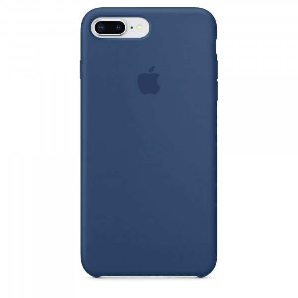 Чехол Apple Silicone Case для iPhone 8 Plus/7 Plus Blue Cobalt Original (MQH02)