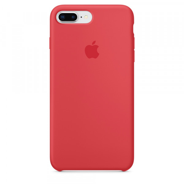 Чехол Silicone Case для iPhone 7 Plus/8 Plus Red Raspberry OEM