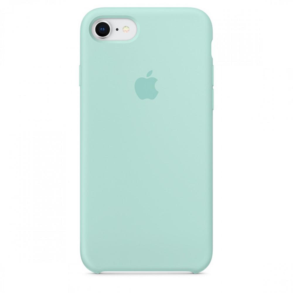 Чехол Apple Silicone Case для iPhone 8/7 Marine Green Original (MRR72)