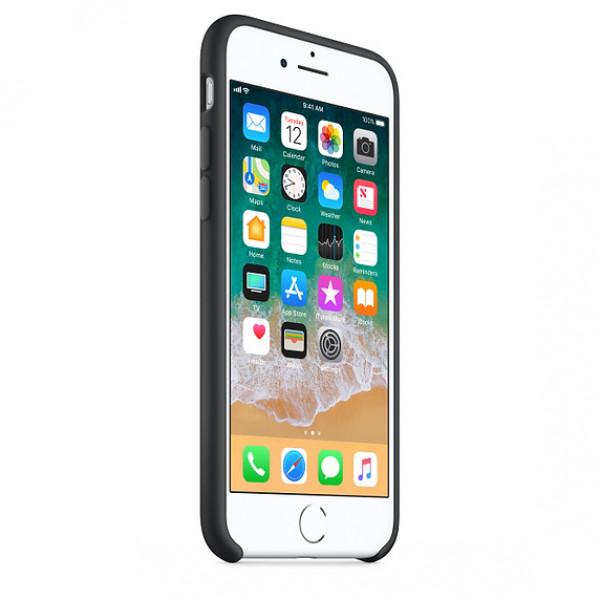 Чехол Silicone Case на iPhone 7 / 8 / SE (2020) Black OEM