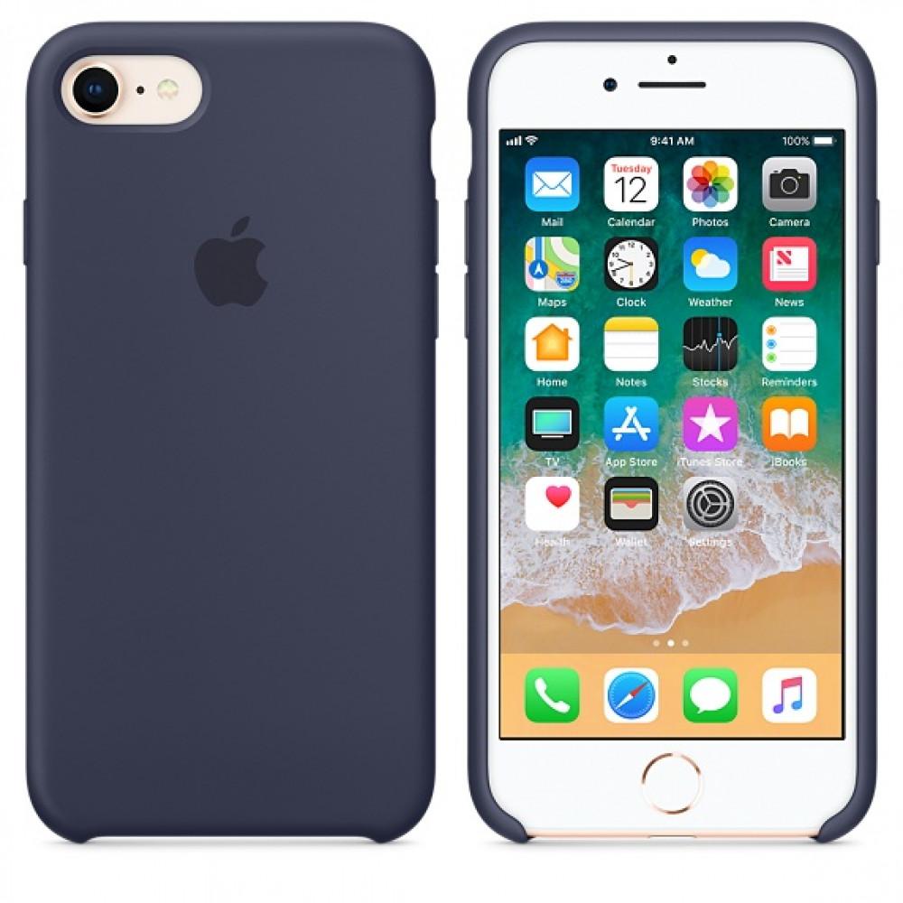 Чехол Silicone Case на iPhone 7 / 8 / SE (2020) Midnight Blue OEM