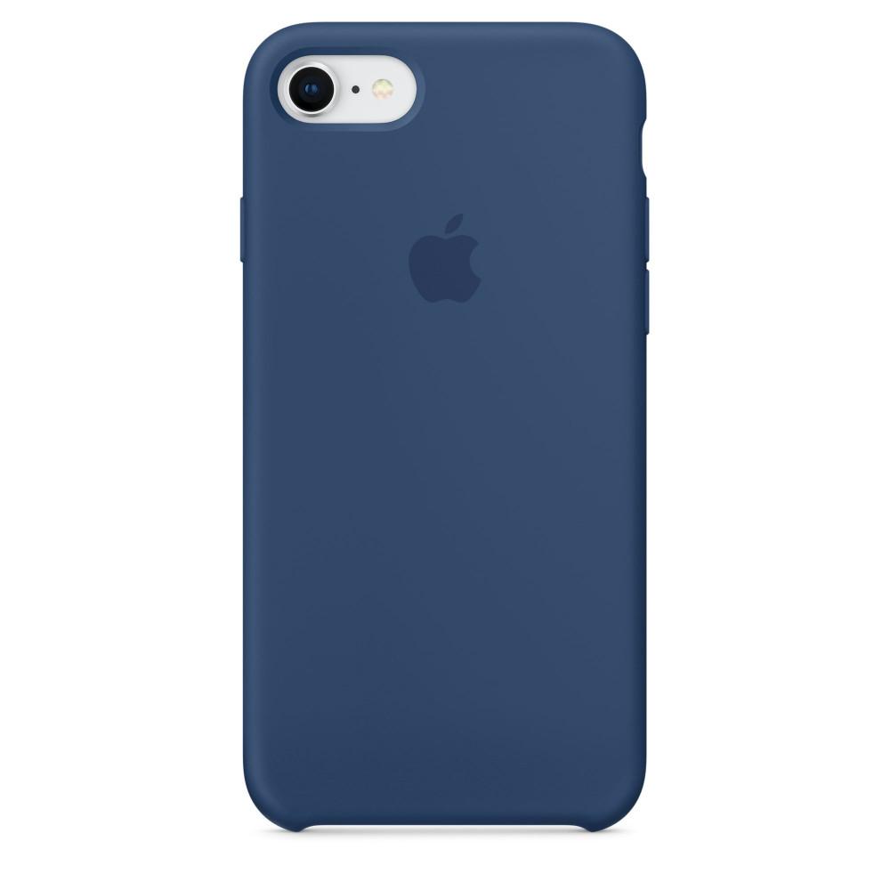 Чехол Apple Silicone Case для iPhone 8/7 Blue Cobalt Original (MQGN2)