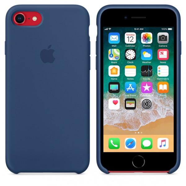 Чехол Silicone Case на iPhone 7 / 8 / SE (2020) Blue Cobalt OEM