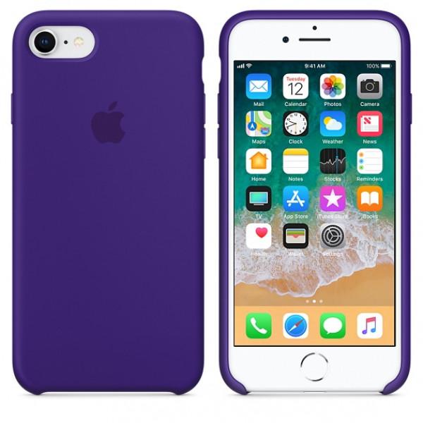 Чехол Apple Silicone Case на iPhone 7 / 8 / SE (2020) Ultra Violet Original (MQGR2)
