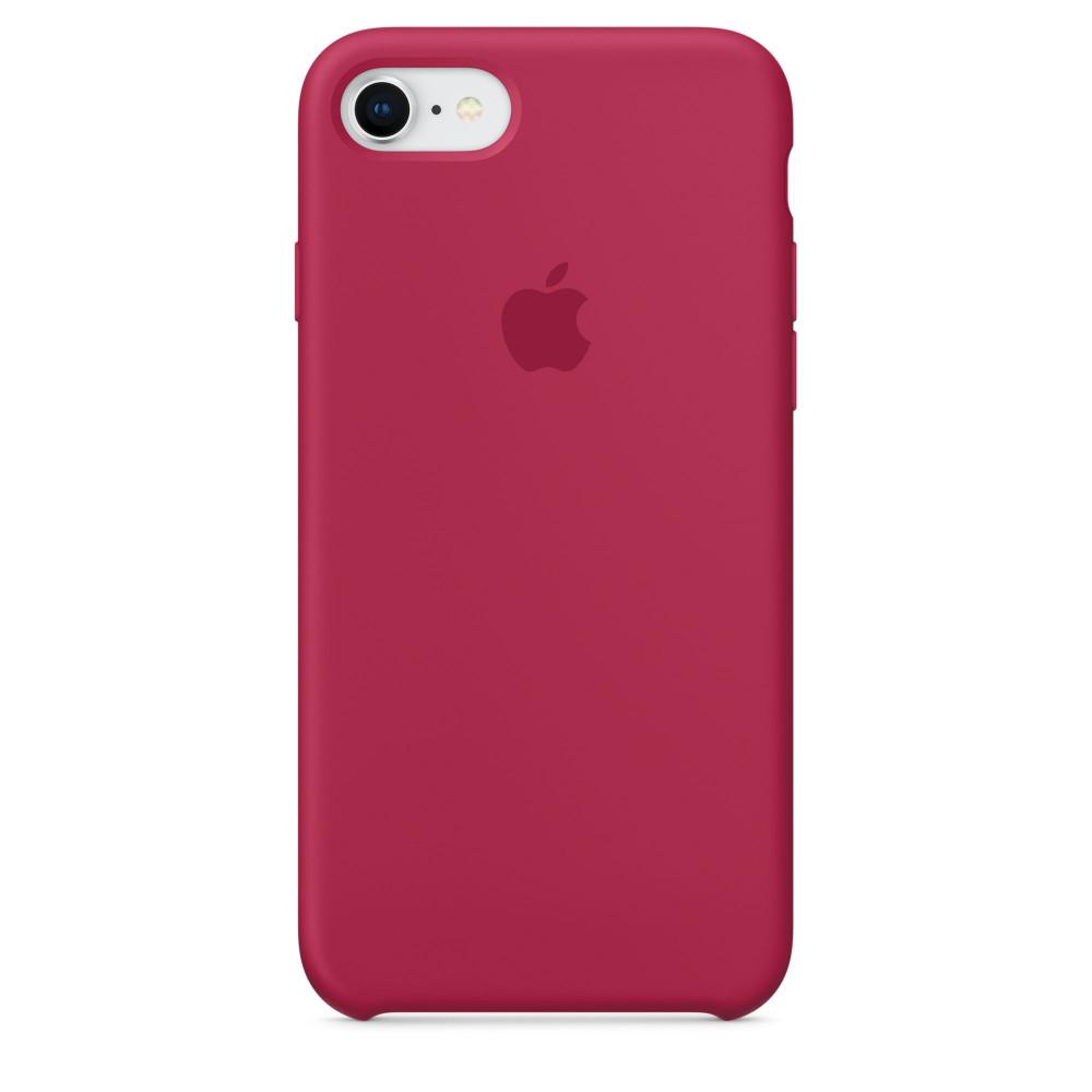 Чехол Apple Silicone Case для iPhone 8/7 Rose Red Original (MQGT2)