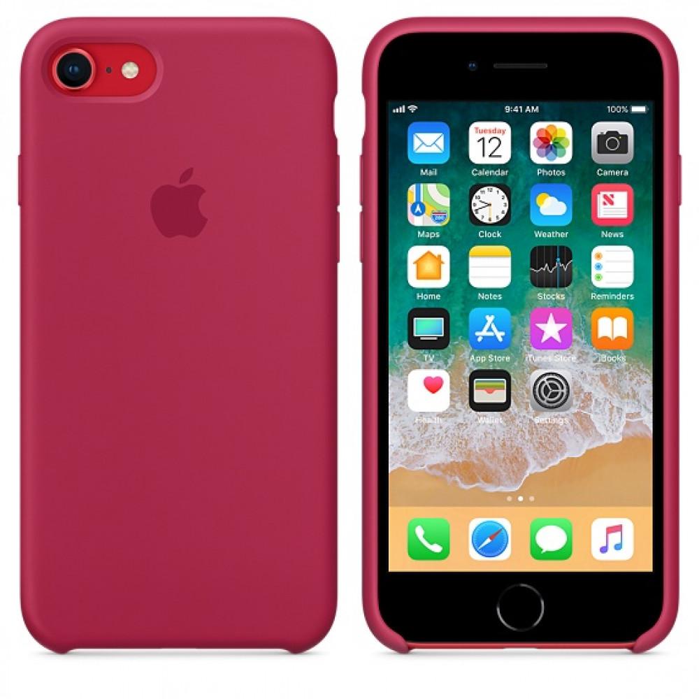 Чехол Silicone Case на iPhone 7 / 8 / SE (2020) Rose Red OEM