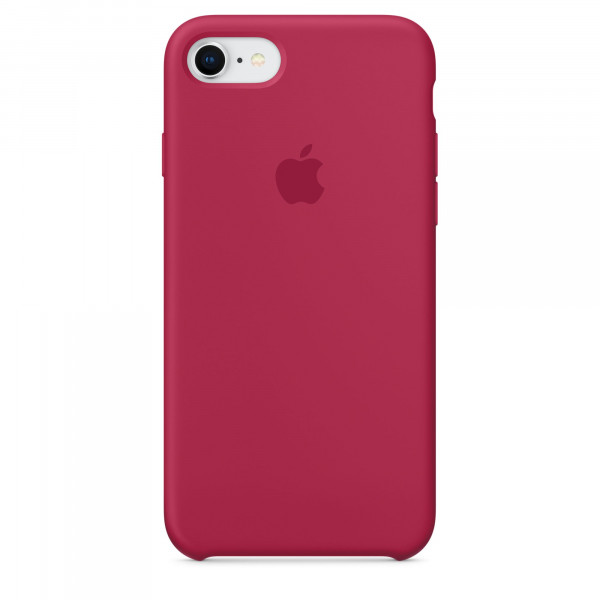 Чехол Silicone Case на iPhone 7 / 8 / SE (2020) Rose Red OEM