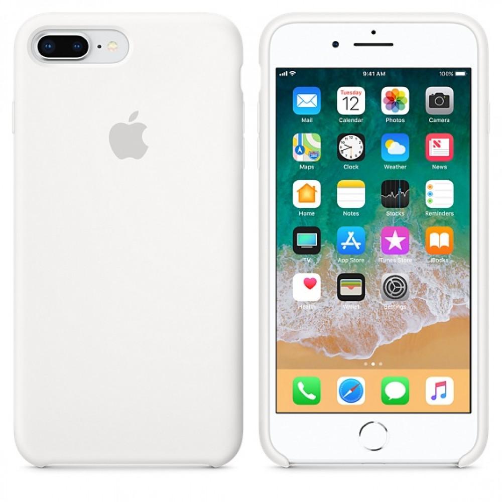 Чехол Silicone Case для iPhone 7 Plus/8 Plus White OEM