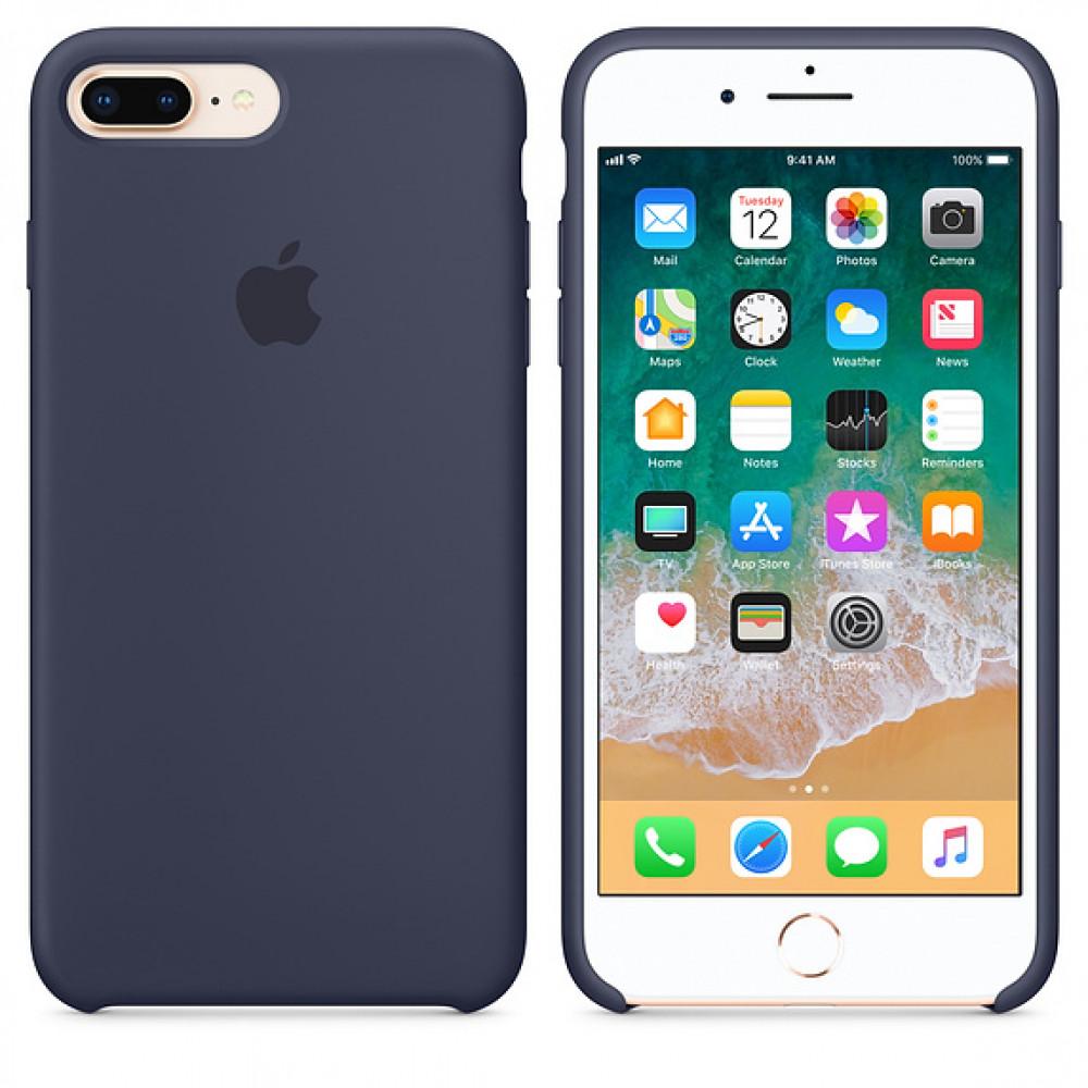 Чехол Apple Silicone Case для iPhone 8 Plus/7 Plus Midnight Blue Original (MQGY2)