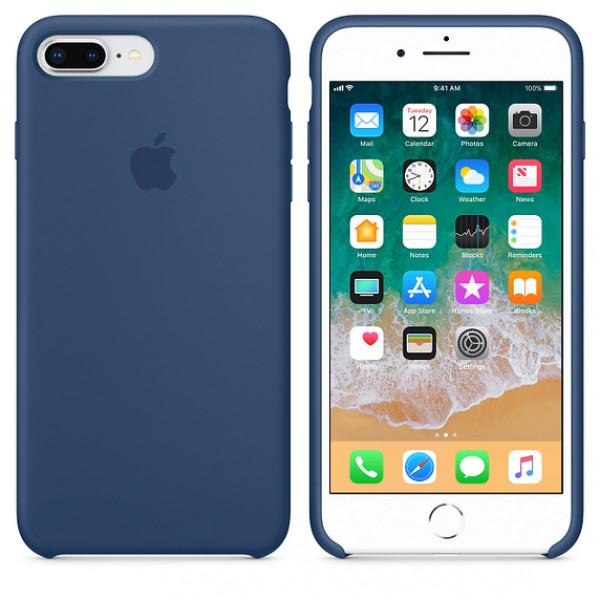 Чехол Apple Silicone Case для iPhone 8 Plus/7 Plus Blue Cobalt Original (MQH02)
