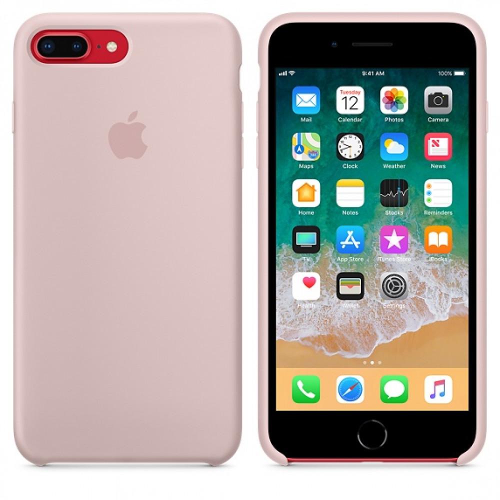 Чехол Silicone Case для iPhone 7 Plus/8 Plus Pink Sand OEM