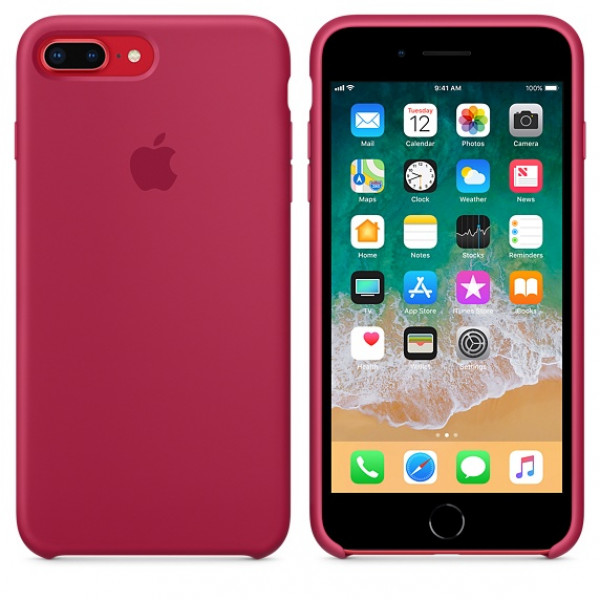 Чехол Apple Silicone Case для iPhone 8 Plus/7 Plus Rose Red Original (MQH52)