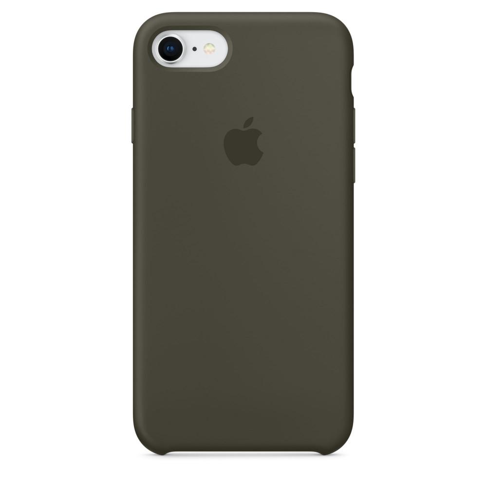 Чехол Apple Silicone Case для iPhone 8/7 Dark Olive Original (MR3N2)