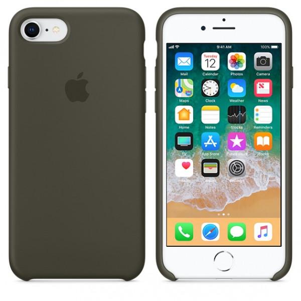 Чехол Apple Silicone Case на iPhone 7 / 8 / SE (2020) Dark Olive Original (MR3N2)