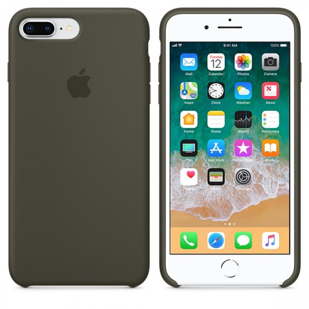 Чехол Silicone Case для iPhone 7 Plus/8 Plus Dark Olive OEM