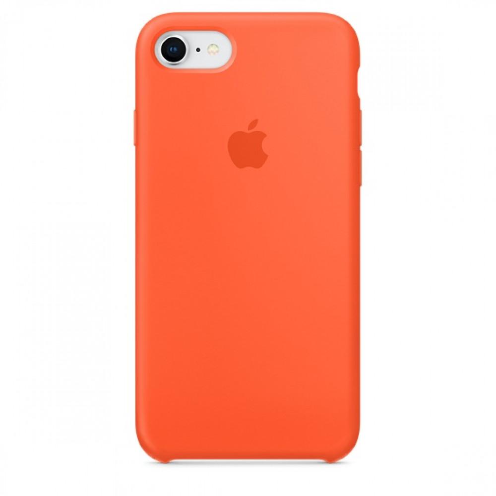 Чехол Apple Silicone Case для iPhone 8/7 Spicy Orange Original (MR682)