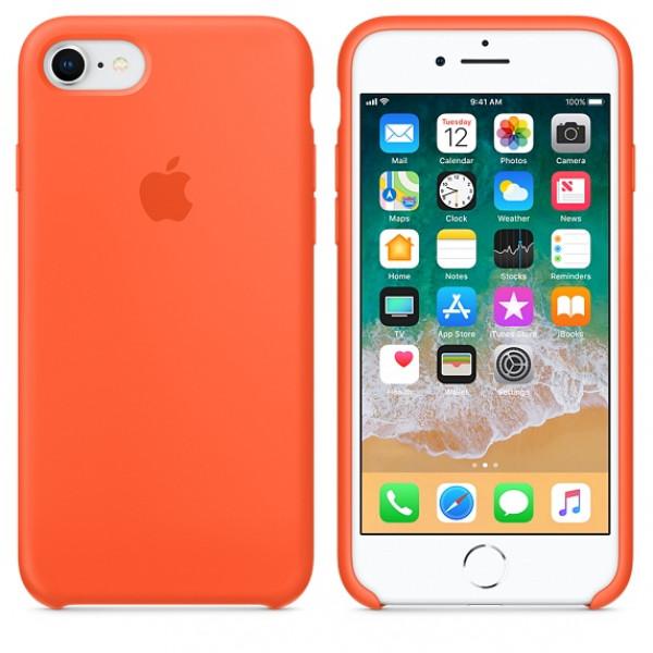 Чехол Apple Silicone Case на iPhone 7 / 8 / SE (2020) Spicy Orange Original (MR682)