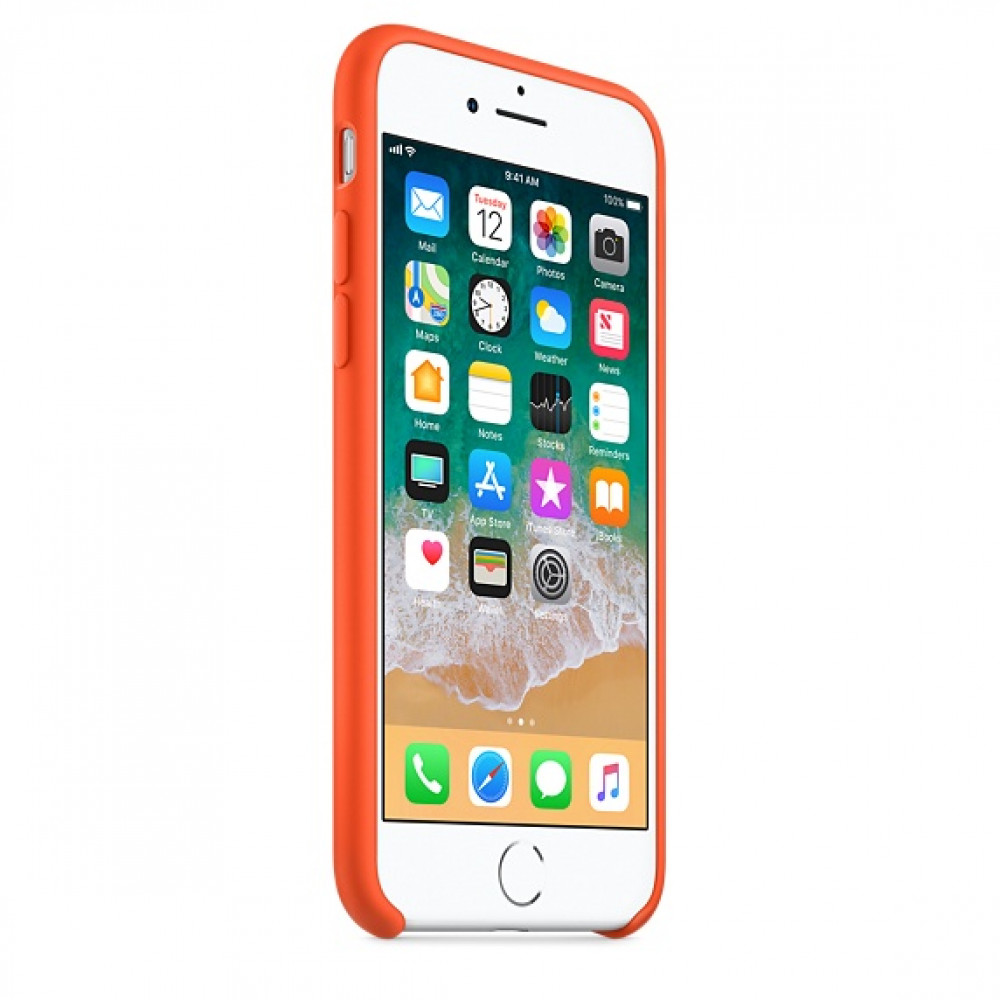 Чехол Silicone Case на iPhone 7 / 8 / SE (2020) Spicy Orange OEM