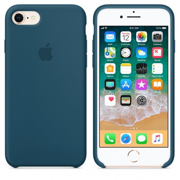Чехол Silicone Case на iPhone 7 / 8 / SE (2020) Cosmos Blue OEM