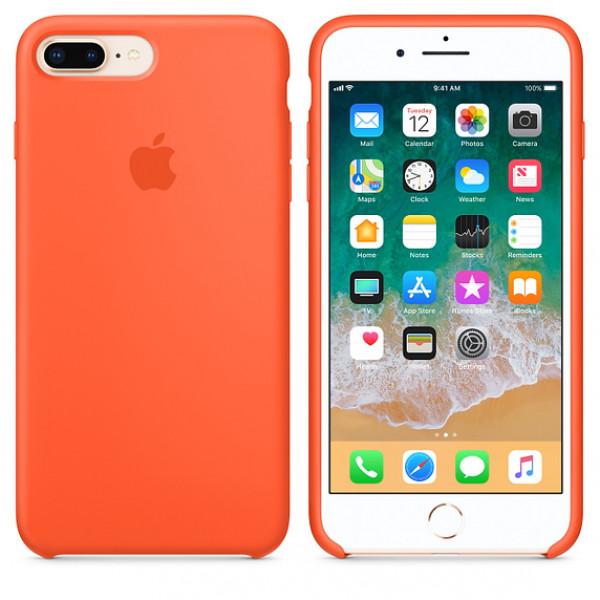 Чехол Apple Silicone Case для iPhone 8 Plus/7 Plus Spicy Orange Original (MR6C2)