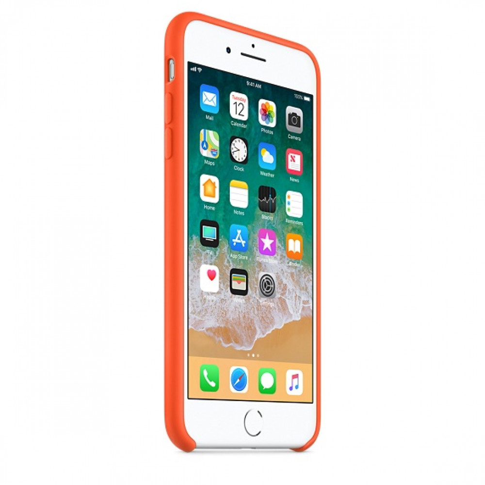 Чехол Silicone Case для iPhone 7 Plus/8 Plus Spicy Orange OEM