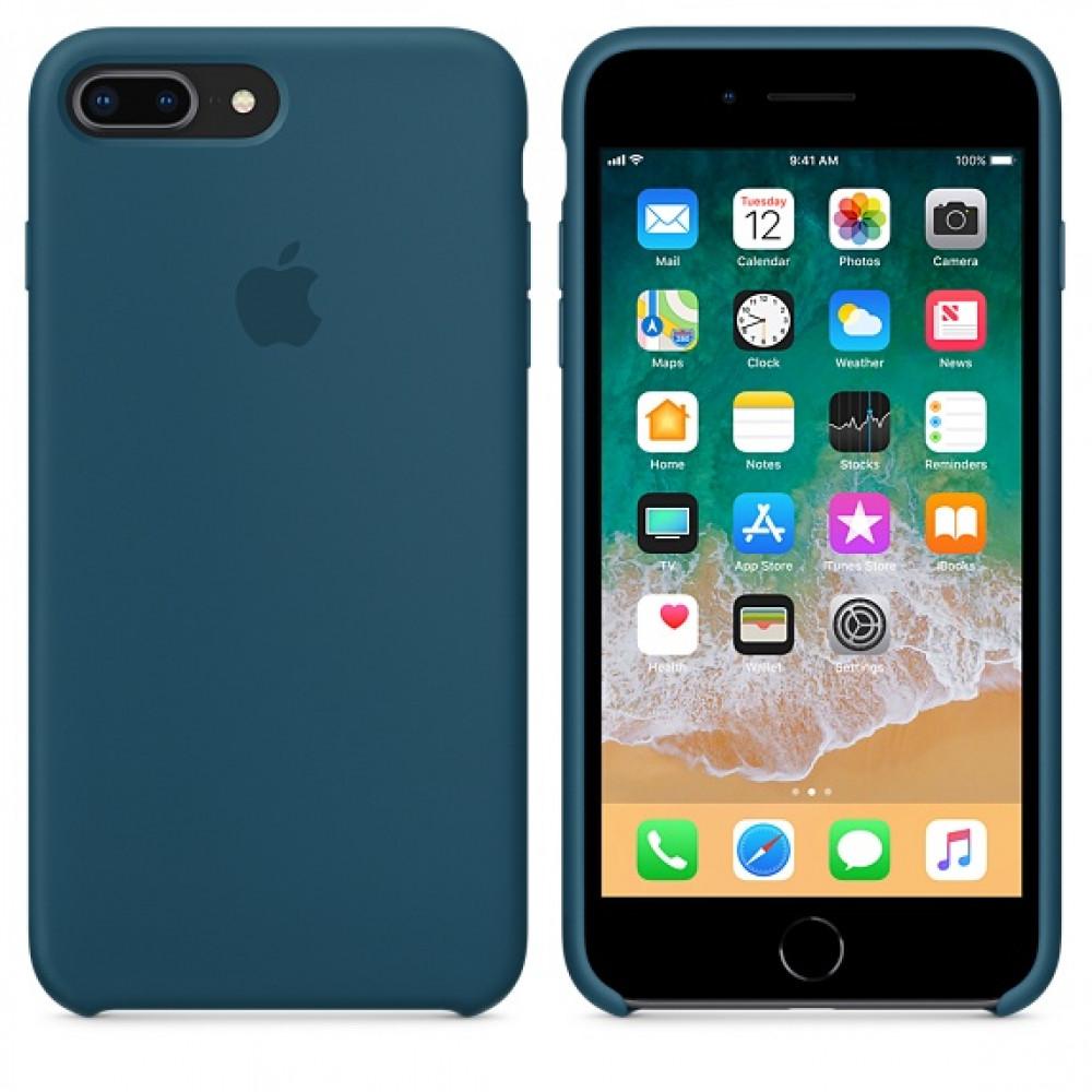 Чехол Silicone Case для iPhone 7 Plus/8 Plus Cosmos Blue OEM